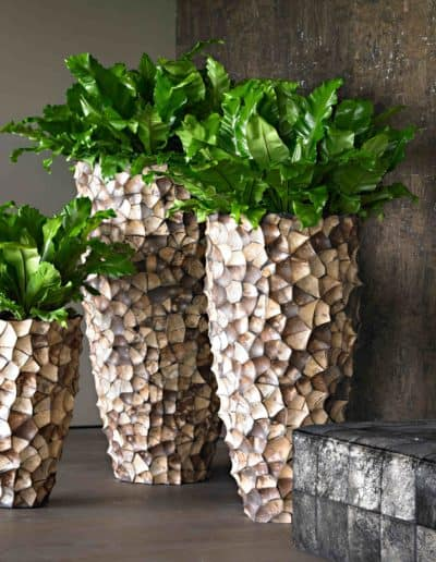 Muschelblätter Bodenvase