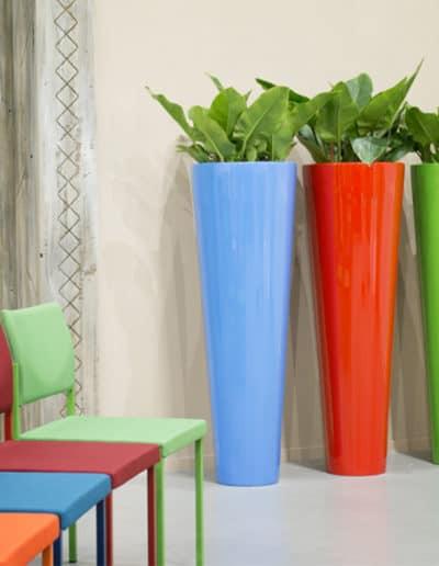 Bodenvase aus Kunststoff