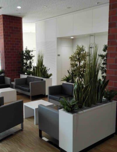 Wartebereich mit Textilen Pflanzen