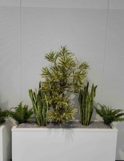 Wartebereich mit Textilen Pflanzen - Raumbegrünung