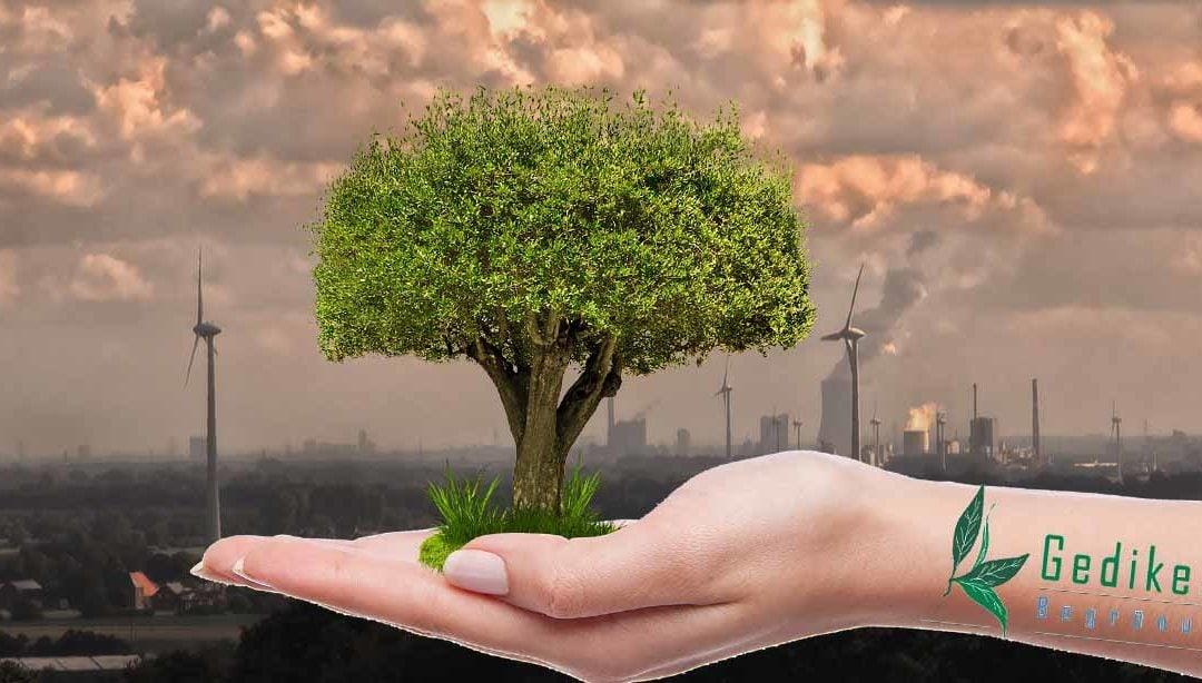 Luftverschmutzung im Freien, im Büro und im Weltall
