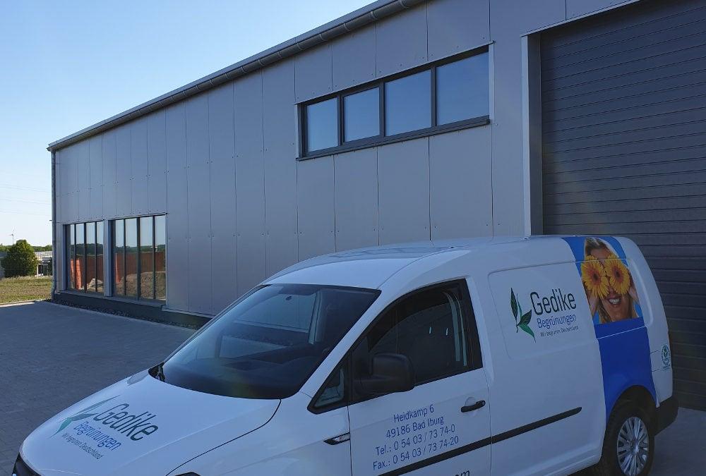 Mehr Raum für die Objektbegrünung durch den Bau einer neuen Betriebsstätte Fertigstellung